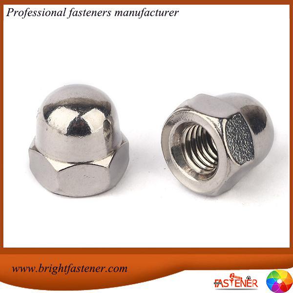 Aukštos kokybės DIN1587 šešiakampiai kepuriniai gilių veržlės