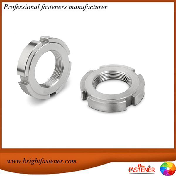 DIN1804 Гайки із вуглецевої сталі, круглі шліцеві